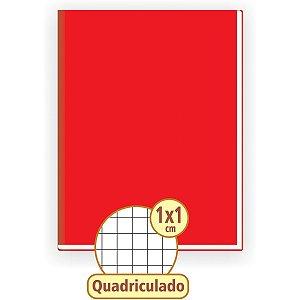 Caderno Quadriculado Univers. 1X1Cm 48F Brochurao C.d Vermel Tamoio