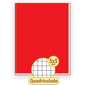 Caderno Quadriculado Univers. 5X5Mm 48F Brochurao C.d Vermel Tamoio