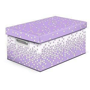 Caixa Organizadora Decorada Dots Ll Pastel Gd 43X31X24Cm. Polibras
