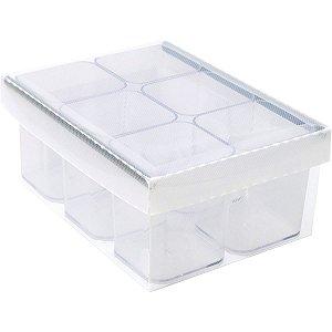 Caixa Organizadora C/06 Divisorias Cristal Dello