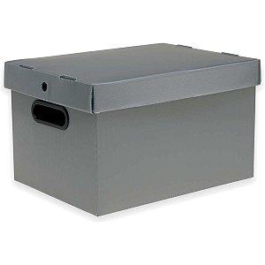 Caixa Organizadora Prontobox Prata 560X365X300 Xg Polycart