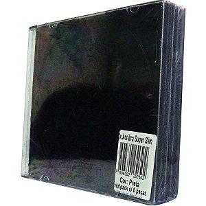 Caixa Para Cd Super Slim 5.2Mm Preto Tecnomidia