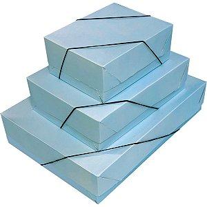 Caixa Para Presente Com Tampa Gd (25,5X35X7,5) Pastel C/elas Cristina