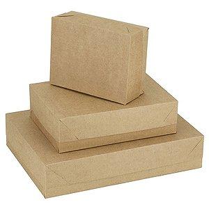 Caixa Para Presente Com Tampa Kraft Pequena 19X14,5X7,5Cm Cristina