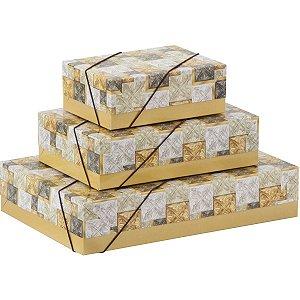 Caixa Para Presente Com Tampa Pq (14,5X19X7,5) Elast. Estamp Cristina