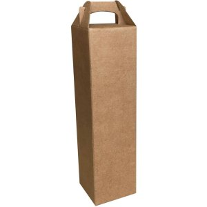 Caixa Para Presente P/garrafa Kraft Simp. 9X9X37Cm Cristina