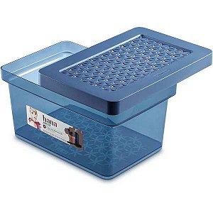 Caixa Plástica Multiuso Alta Multiuso Azul 8,5L Ordene