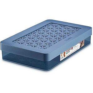 Caixa Plástica Multiuso Caixa C/divisorias Azul P Ordene