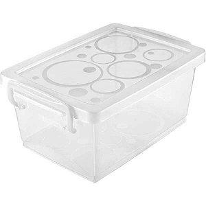 Caixa Plástica Multiuso Cristal 1,5L 11,8X19,7X9Cm C/t Ordene