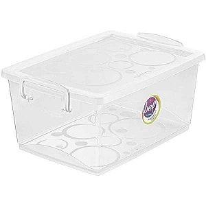 Caixa Plástica Multiuso Cristal 4L 19X26X12Cm C/trava Ordene