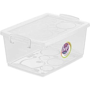Caixa Plástica Multiuso Cristal 7,5L 23,5X32,5X15Cm Ordene