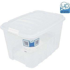 Caixa Plástica Multiuso Gran Box Alta Incolor 19,8L Plasutil