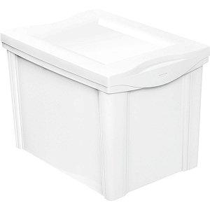 Caixa Plástica Multiuso Medio Branco 30L Organizador Ordene