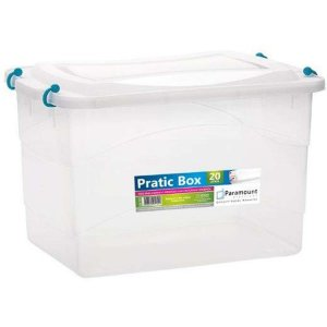 Caixa Plástica Multiuso Pratic Box 20L 41X29X25Cm. Paramount