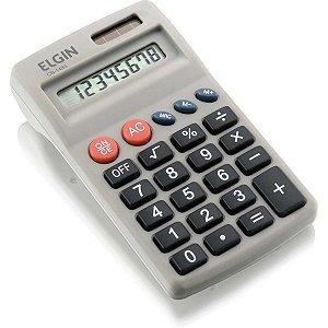 Calculadora De Bolso 8Dig.solar/pilha Aa Preta Elgin