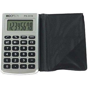 Calculadora De Bolso 8Digitos C/capa Bateria/solar Hoopson