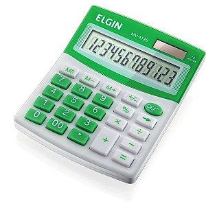 Calculadora De Mesa 12 Dig.mv4126 Vis/sl/bat Verde Elgin