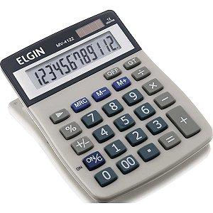 Calculadora De Mesa 12Dig.visor Lcd Solar/bat.g10 Elgin