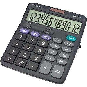 Calculadora De Mesa 12Digit. Botao Lig/desl.c/capa Procalc