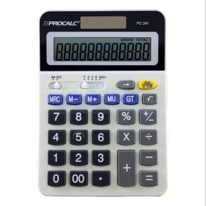 Calculadora De Mesa 12Digitos Mod.pc241 Bat/solar Procalc