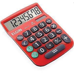 Calculadora De Mesa 8 Dig.mv4131 C/vis/sl/bat Verm Elgin