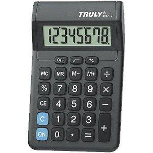Calculadora De Mesa 8 Digitos Preta C/1Pilha Aa Procalc