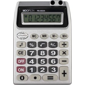 Calculadora De Mesa 8Digitos Bateria Cinza Hoopson