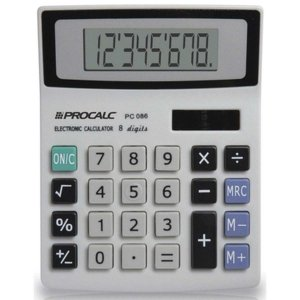 Calculadora De Mesa 8Digitos Mod.pc086 Bat/solar Procalc