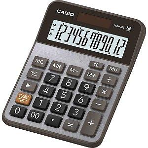Calculadora De Mesa Mx120B-S4-Dc Metalizada 12Dig. Casio
