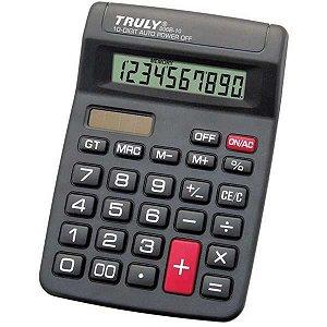 Calculadora De Mesa Trully 10Dig.preta Mod.806B-10 Procalc