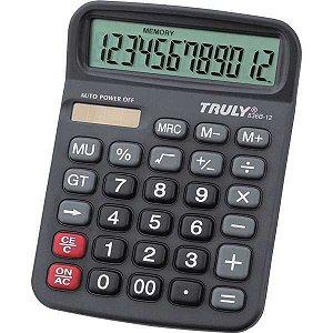 Calculadora De Mesa Trully 12Dig.preta Mod.836B-12 Procalc