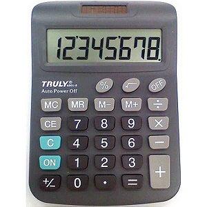 Calculadora De Mesa Trully 8Dig.visor Gr.prata Procalc