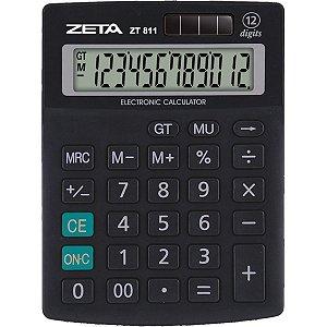 Calculadora De Mesa Zeta Zt811 12Dig.preta Procalc