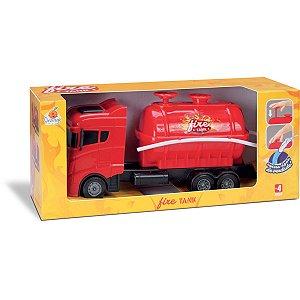 Caminhao Fire Tank Orange Toys