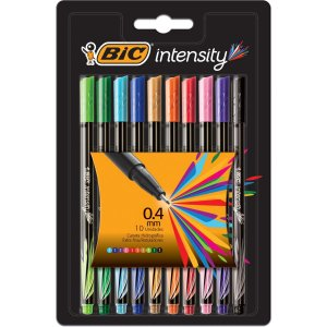 Caneta Com Ponta Porosa Intensity 0.4Mm Colors 10Cores Bic