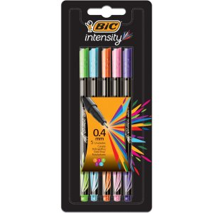 Caneta Com Ponta Porosa Intensity 0.4Mm Colors 5Cores Bic