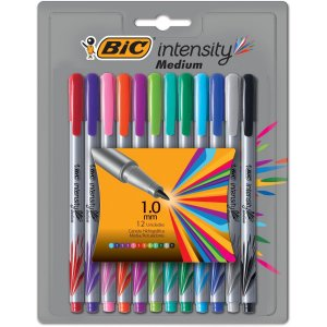 Caneta Com Ponta Porosa Intensity 1.0Mm Colors 12Cores Bic