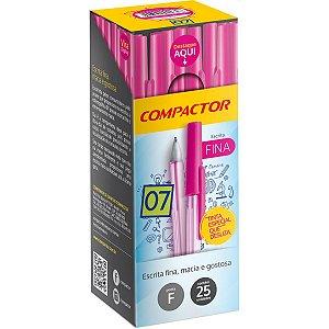 Caneta Esferográfica 0,7Mm Pink Compactor