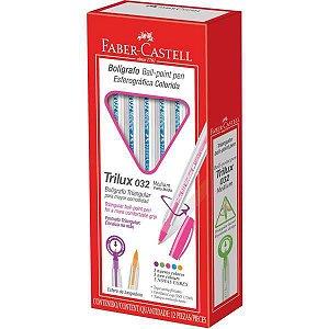 Caneta Esferográfica Trilux Colors 1.0Mm Rosa Faber-Castell