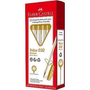 Caneta Esferográfica Trilux Ponta Média Ouro Faber-Castell