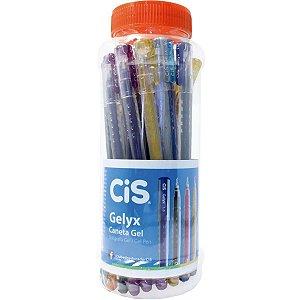Caneta Gel Cis Gelyx 1.0Mm 10Cores Sertic