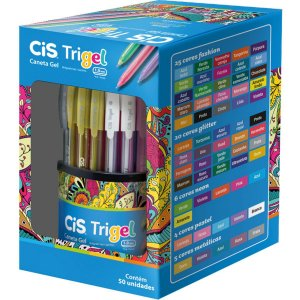 Caneta Gel Cis Trigel 1,0Mm 12 Cores Sertic