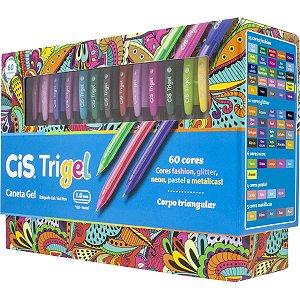 Caneta Gel Cis Trigel 60 Cores Sertic