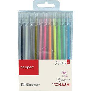 Caneta Gel Hashi Gel Pen 12Cores 0.5Mm Newpen