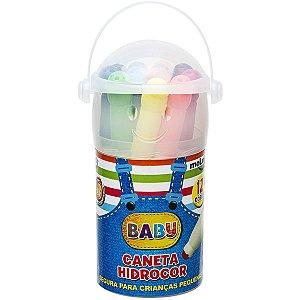 Caneta Hidrografica Baby Copo C/ 12 Cores Molin