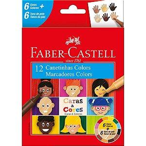 Caneta Hidrografica Caras E Cores 12Cores Faber-Castell
