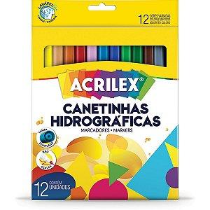 Caneta Hidrografica Super 12 Cores Acrilex