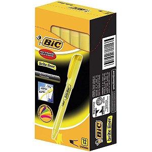 Caneta Marca Texto Brite Liner Amarela Bic