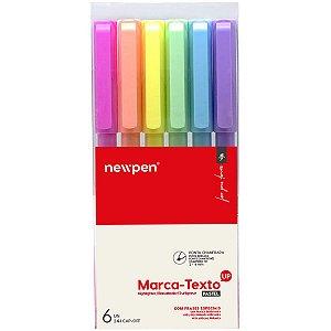 Caneta Marca Texto Up Pastel 6Cores Newpen