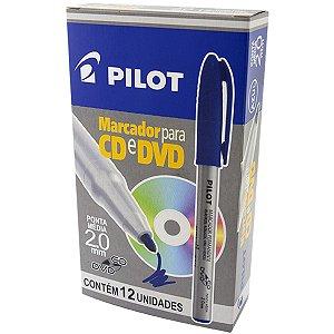 Caneta Para Cd 2.0Mm Ponta Média Azul Pilot